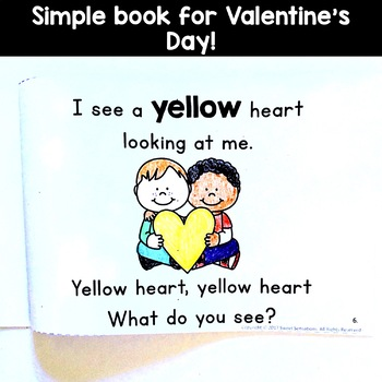 Valentines Day Simple Reading for Kindergarten