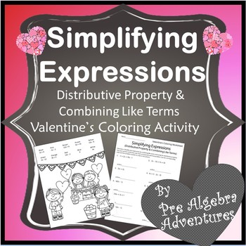 Valentine's Day Simplifying Expressions