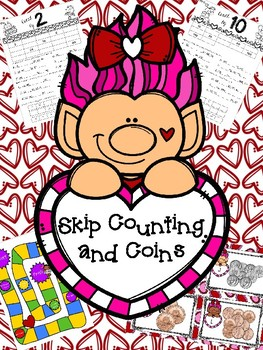 Valentines Skip Counting and Coins