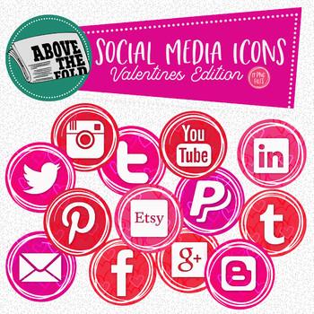 Valentines Social Media Icons