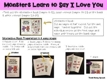 Valentines Social Story - Monsters Learn To Say I Love You (Easy Prep!)