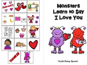 Valentines Interactive Book & Social Story - Monsters Learn To Say I Love You