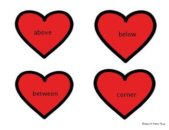 Valentines Spatial Concepts Hearts Freebie