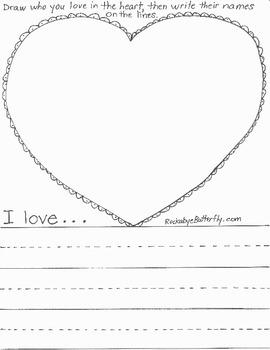 Valentine's Spelling Hand-Drawn Worksheets
