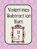 Valentines Subtraction Hunt