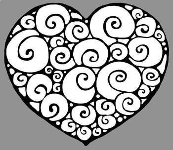 Valentines Swirly Heart Graphics FREEBIE Whimsy Workshop Teaching