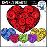 Valentines Swirly Heart Graphics FREE Whimsy Workshop Teaching