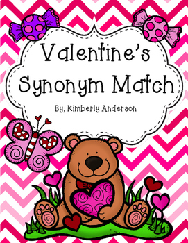 Valentine's Day Candy Synonyms Match