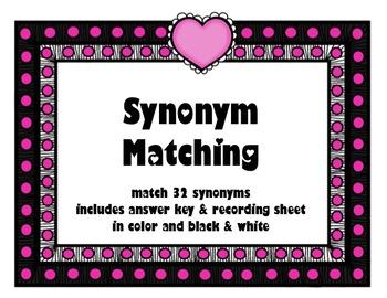 Valentine's Synonym Matching