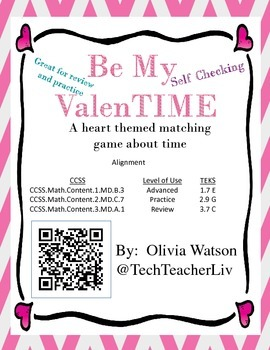 Valentine's TIME - A Fun Way to Practice Telling Time