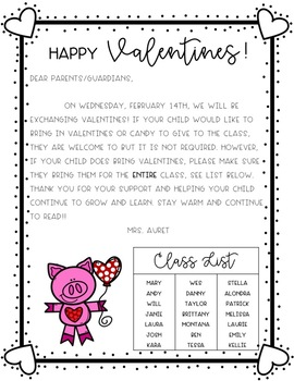 Valentines Tag and Letter