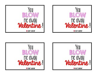 Valentines Tags for Whistles/Bubbles
