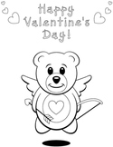 Valentine's Teddy Bear Coloring Sheet