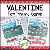 Valentines Ten Frame Game   Pre-K + K Math