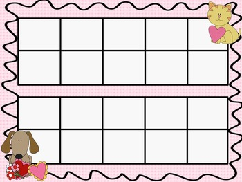 Valentines Ten Frames - 10 QUICK Prep Pages!