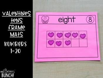 Valentines Ten's Frame Mats