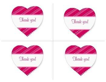 Valentines Thank You Notes