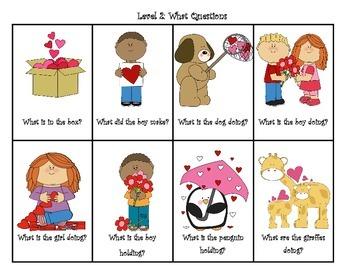 Valentine's Theme Pre-K WH questions