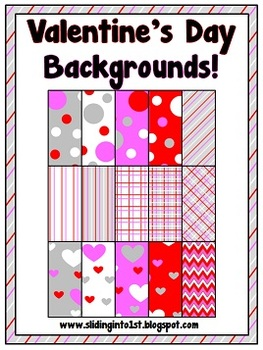 Valentine's Themed Backgrounds {clipart}