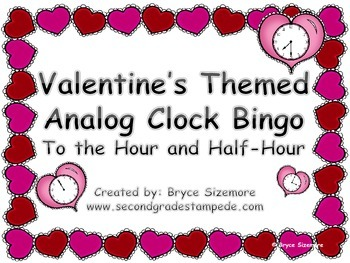 Valentine's Themed Bingo Review - Time to the Hour and Half-Hour