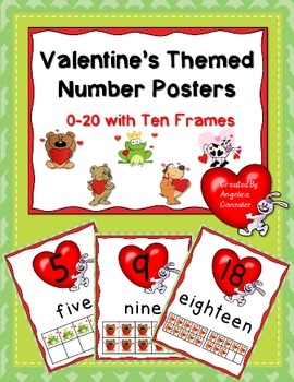 Valentine's Number Posters (0-20 with Ten Frames)