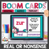 Valentines Themed Real or Nonsense Words Boom Cards