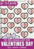 Valentines Unit - language & math
