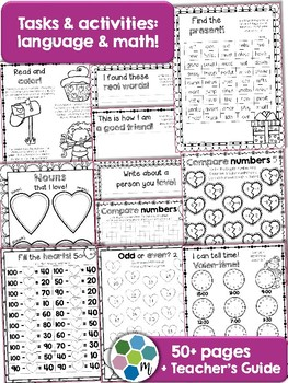 Valentines Unit - language & math