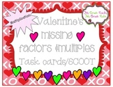 Valentine's Unknown Factors Multiplication Task Cards