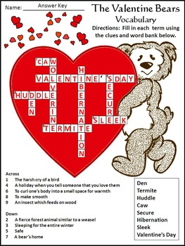 Valentine's Day Activities: The Valentine Bears Activity Packet
