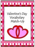 Valentine's Vocabulary Match-Up