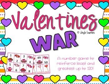 Number Practice: Valentines War