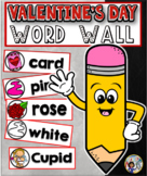 Valentine's Word Wall Cards Set