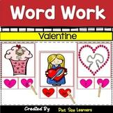 Valentines Word Work Center Activities