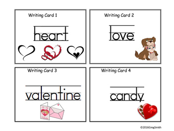 Valentines Write the Room
