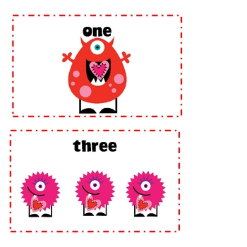 Valentine's Write the Room-Number Words