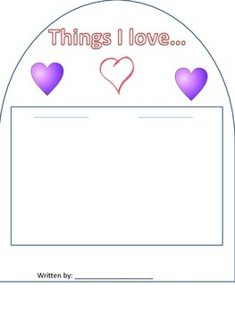 Valentines Writing Booklet