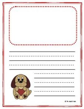 Writing Paper Templates - Valentine's Day Theme