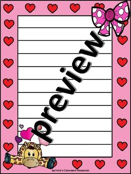 Valentines Writing Paper