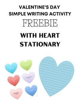 Valentine's Writing Stationary FREEBIE