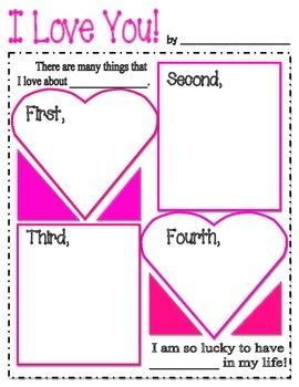 Valentine's Writing Web