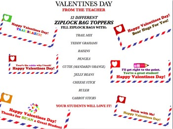 Valentines Zipock Toppers From The Teachers