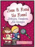 Valentines Zoom & Read the Room to Find Antonyms, Homophon