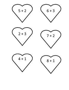 Valentine's addition & subtraction related facts
