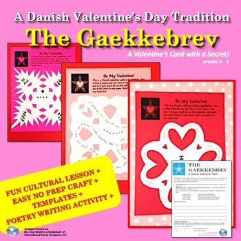 Valentines around the World! Learn about Denmark, Write a Poem AND Make a Card!