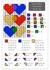 Valentine's day - 1-150 number chart math mystery picture - differentiated