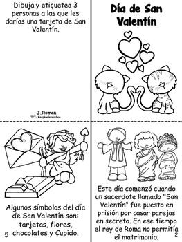 Valentines day Book-English & Spanish