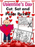 Valentine's day - Cut,Set and Paste Puzzle