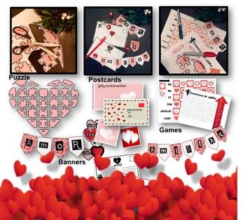 Valentines day - Día de San Valentín en Español- games preterit/present/ act.