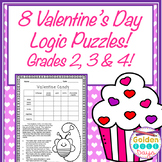 Valentine's Day Logic Puzzles! ~Critical Thinking!~ Grades 2, 3 & 4